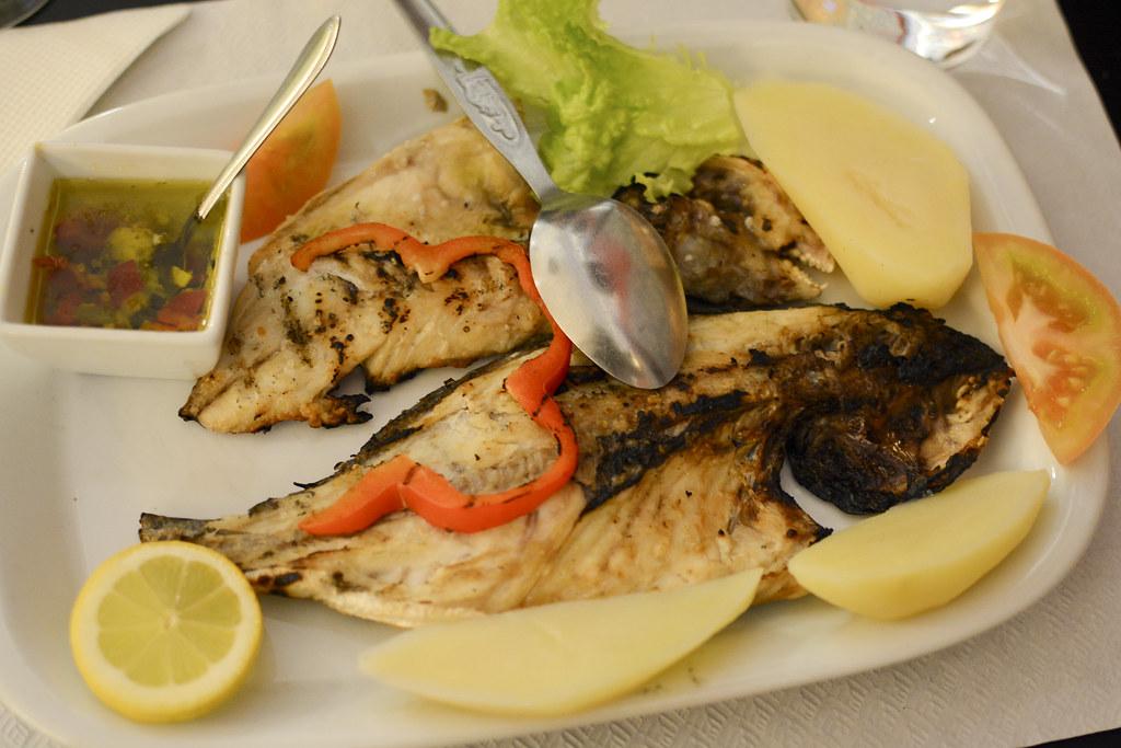 ماهی دورادای کبابی، غذاهای دریایی پرتغال