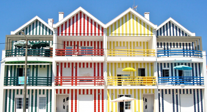 خانه های رنگی اویرو پرتغال