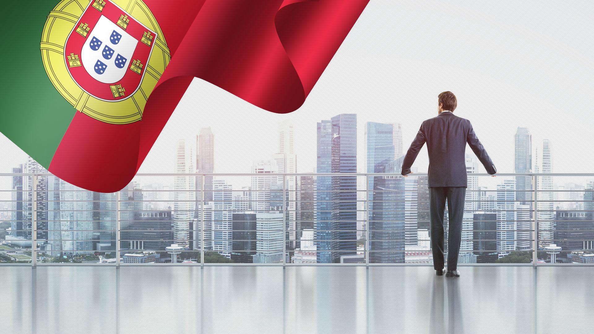 پرچم پرتغال و مدیر شرکت