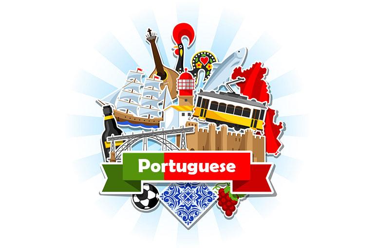 اصطلاحات زبان پرتغالی به همراه المان های کشور پرتغال و پرچم