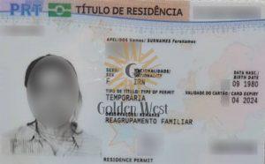 کارت اقامت پرتغال